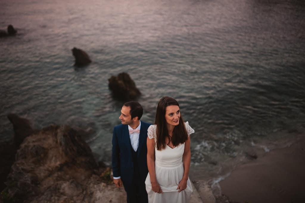 photographe mariage nantes rock folk la baule plage falaise